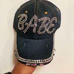 Evolving Always Accessories - New Distressed Denim Bling Hat